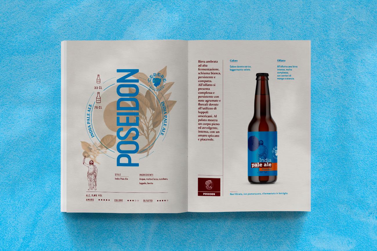 Realizzazione cataolgo brochure birra cerere avellino benevento napoli caserta