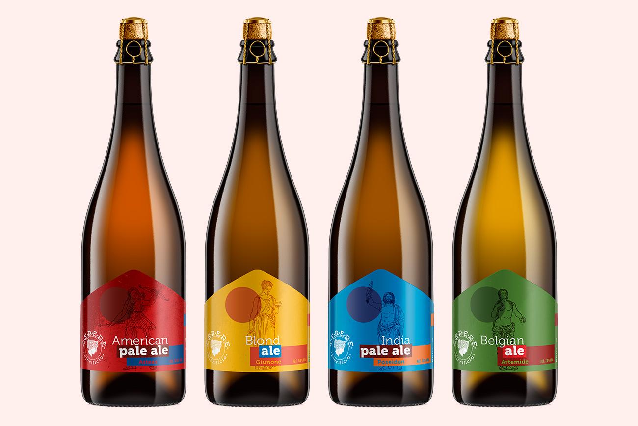Realizzazione packaging etichette birra cerere avellino benevento napoli caserta