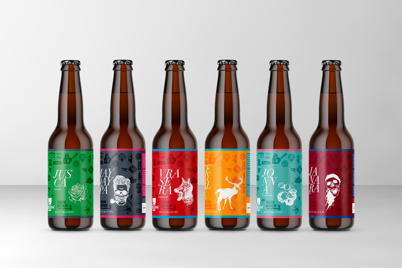 Progettazione grafica etichetta birra donjon avellino