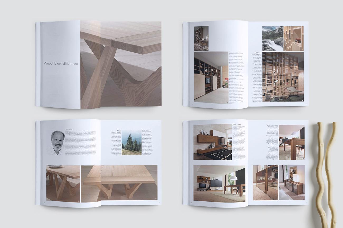 Progettazione grafica catalogo brochure interior napoli