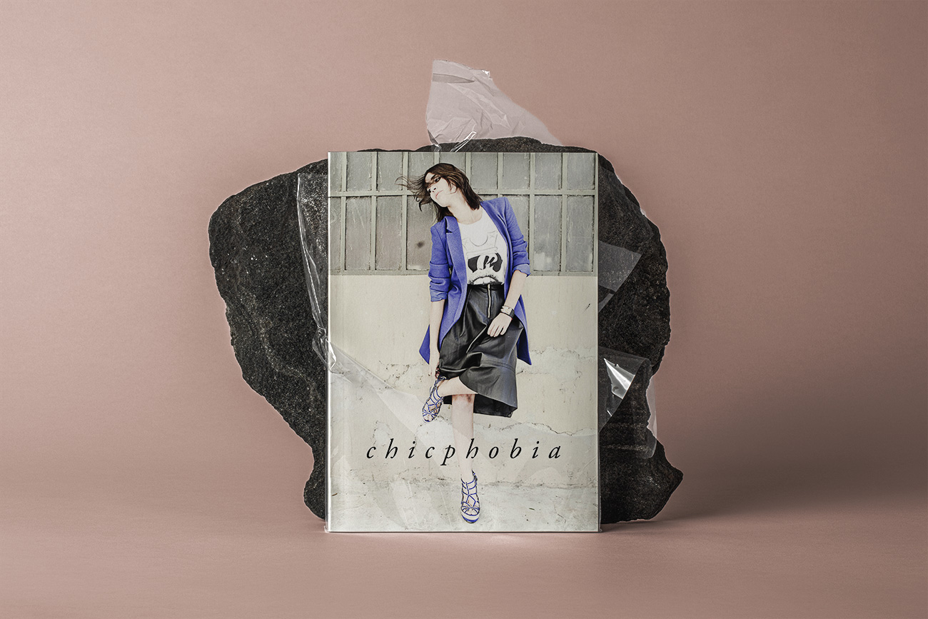 Progettazione grafica catalogo lookbook fashion chicphobia napoli