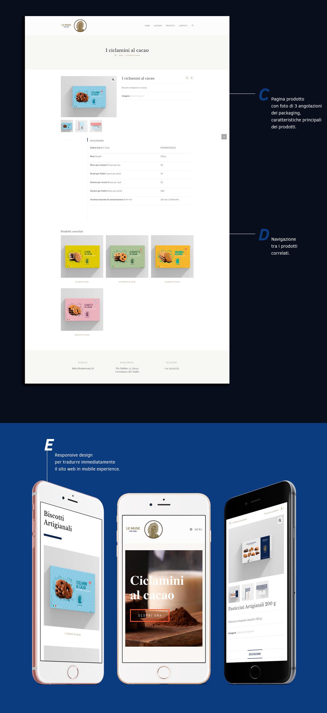 Realizzazione sito web ecommerce Le Muse Dolciaria