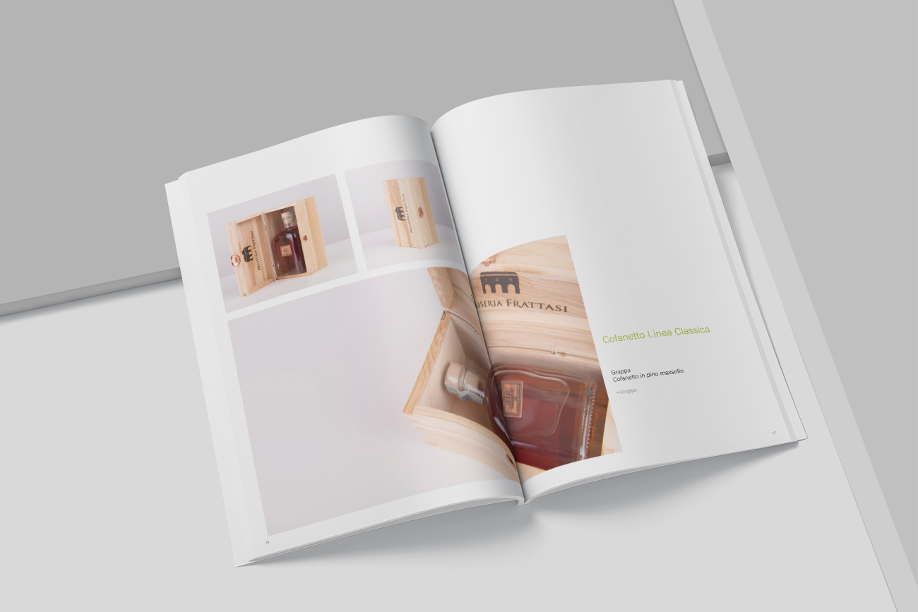 progettazione grafica catalogo brochure masseria frattasi benevento