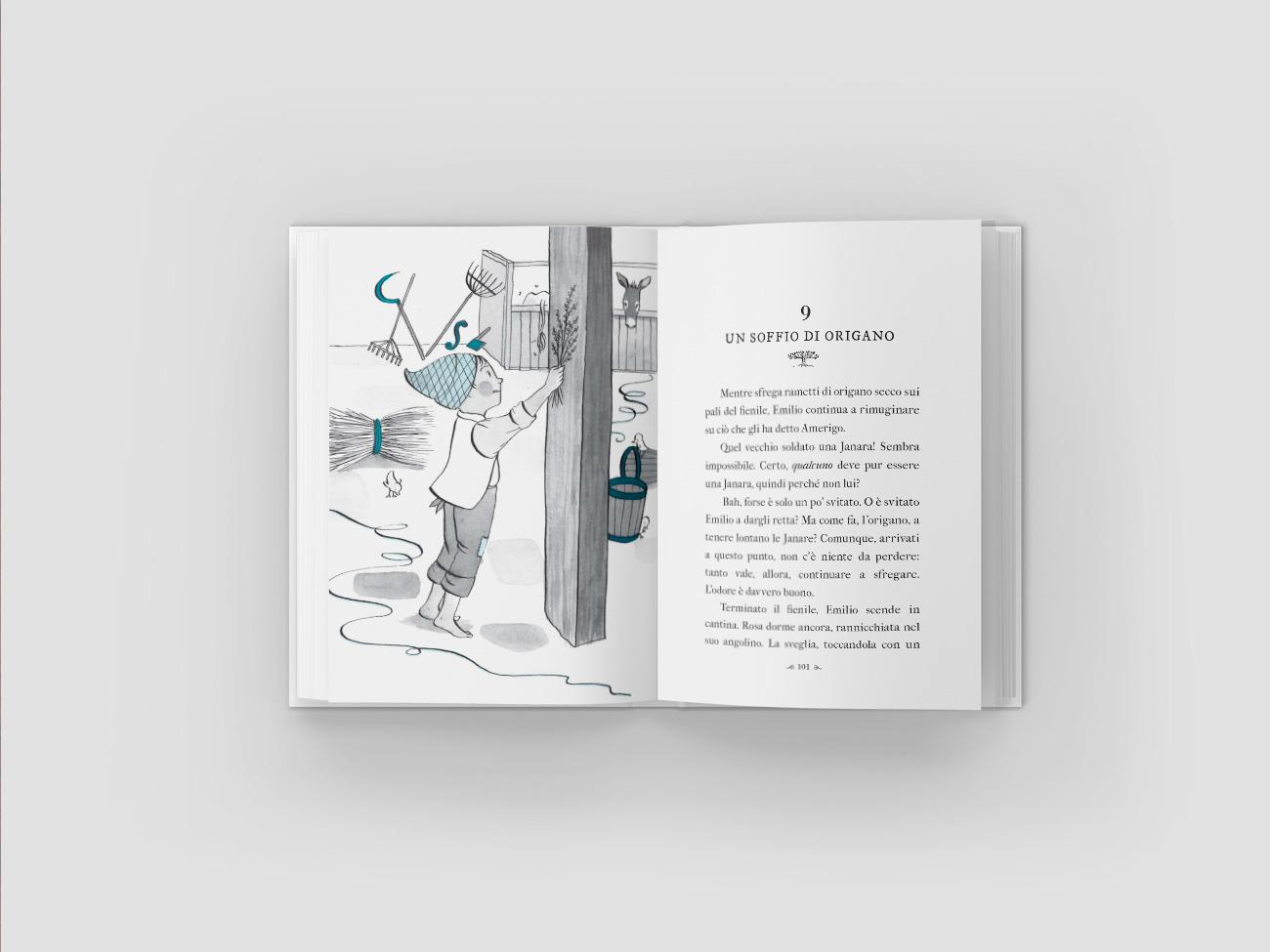 progettazione grafica libro illustrazioni le streghe di benevento edizioni primavera editrice scarafaggio