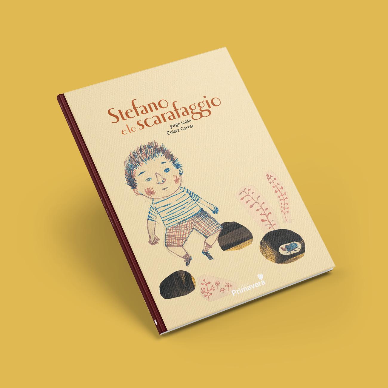 progettazione grafica-libro illustrazioni stefano e lo scarafaggio edizioni primavera editrice scarafaggio