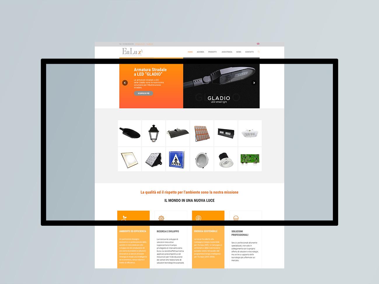 progettazione realizzazione sito web eulux benevento