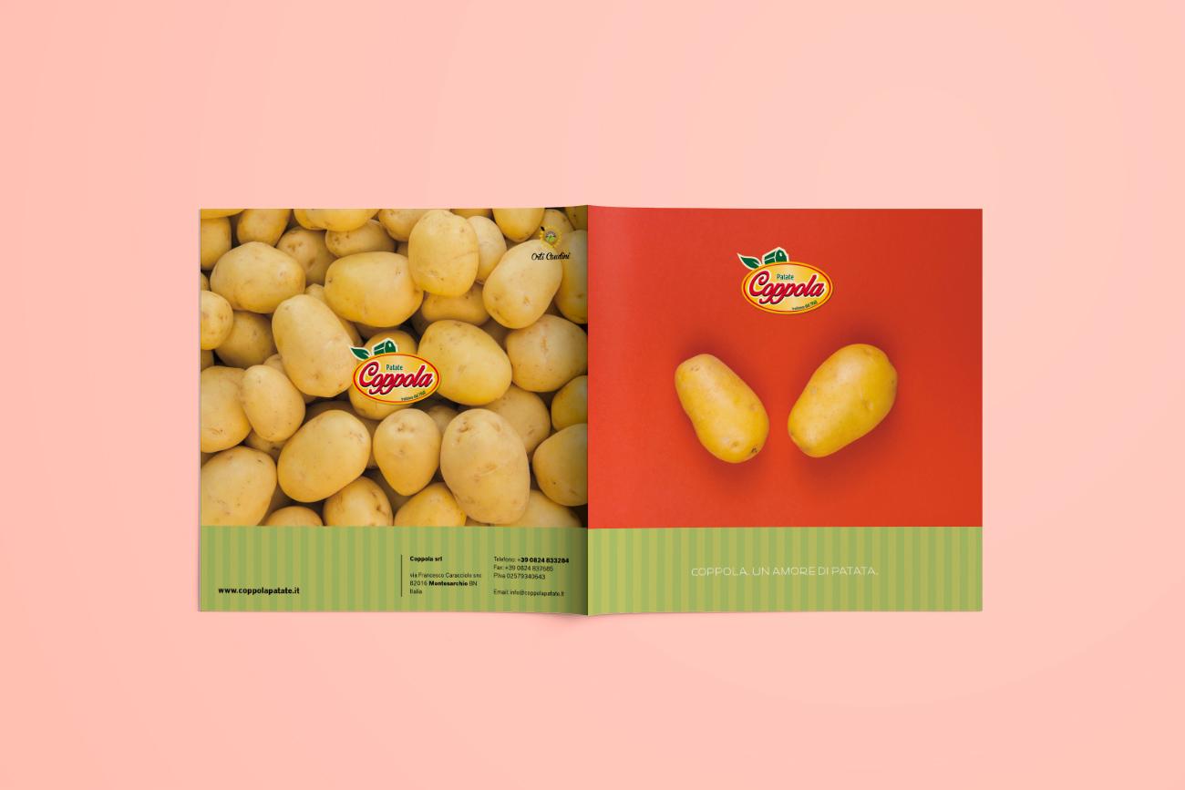 Progetto grafico brochure catalogo patate coppola benevento