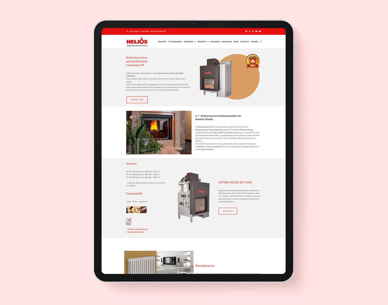 Realizzazione sito web Helios Avellino