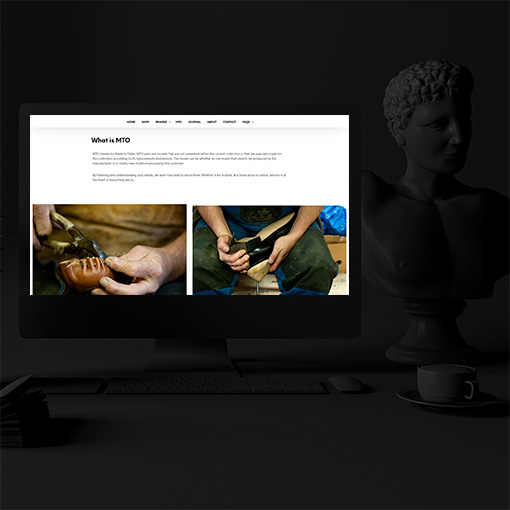 Realizzazione sito web Medallion Shoes Napoli