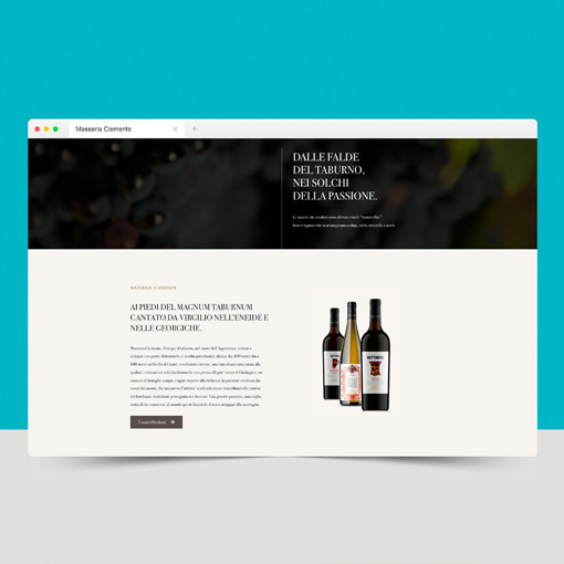 Realizzazione sito web Masseria Clemente Benevento