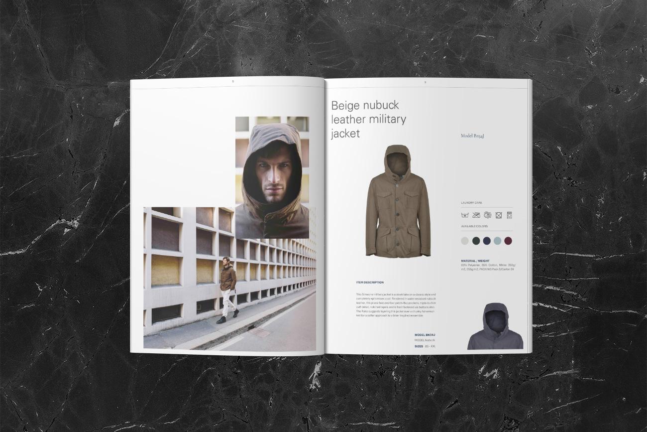 progettazione grafica catalogo di moda simeone napoli grafico pubblicitario