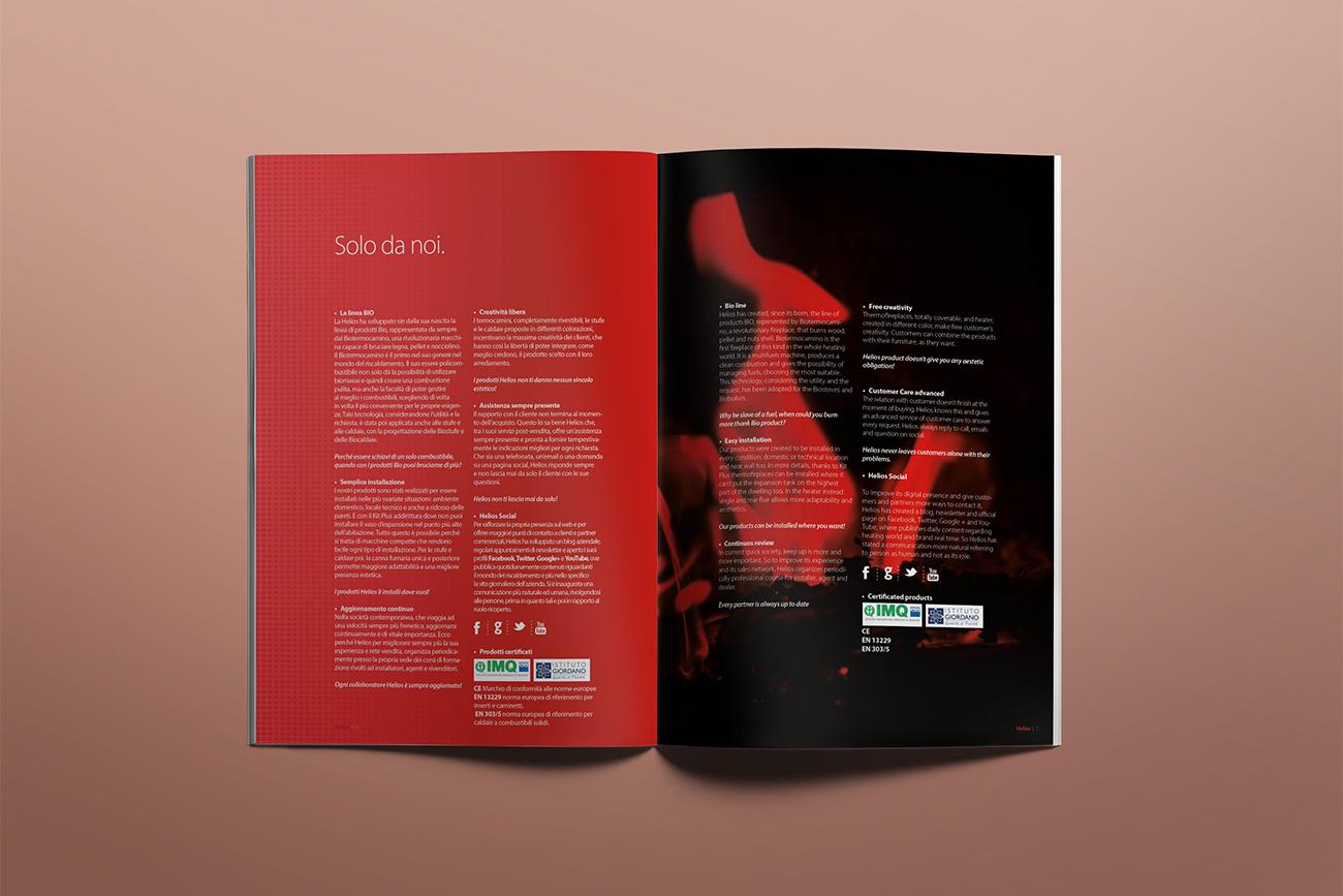 progettazione grafica catalogo prodotti brochure helios avellino