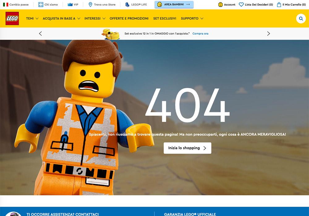 10 esempi di pagina errore 404 - lego