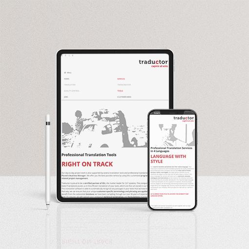 realizzazione sito web agenzia traduzioni basilea